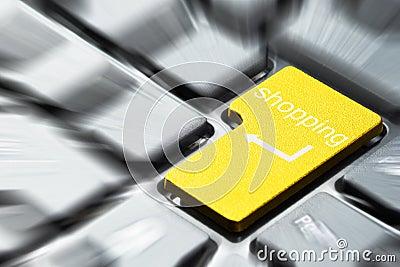 Botón amarillo de las compras