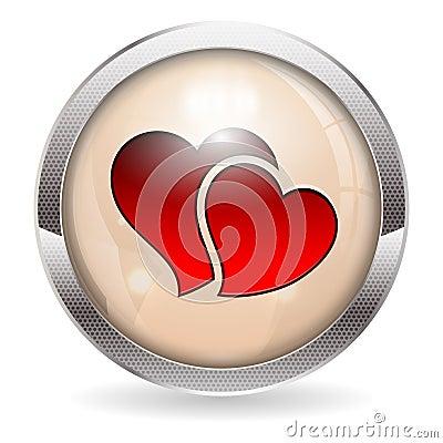 Botón de la tarjeta del día de San Valentín