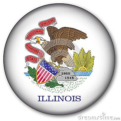 Botón del indicador del estado de Illinois