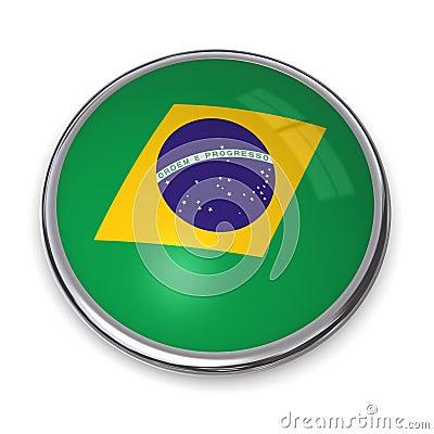 Botón el Brasil de la bandera