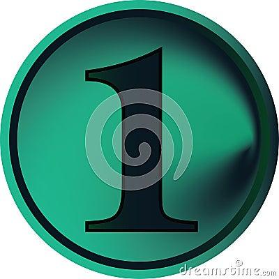 Botón-uno numérico