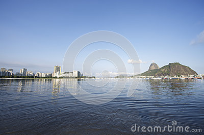 Botafogo Bay Rio de Janeiro Brazil with Sugarloaf Mountain