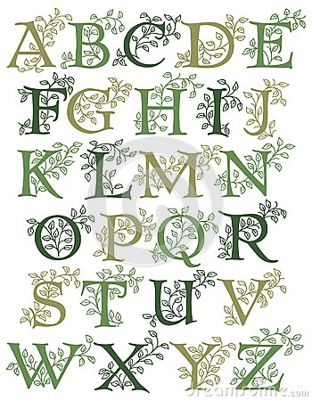 Botanical Alphabet/eps