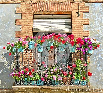 Free Botanical Balcony Royalty Free Stock Images - 2671689