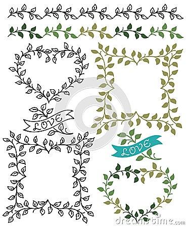 Botanical Borders and Frames/eps