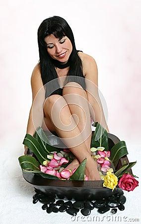 Botanical foot bath