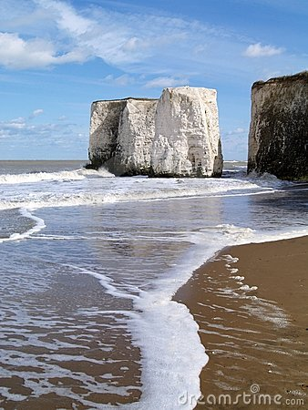 Botany Bay in Kent, English Beach