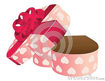 bo te cadeau en forme de coeur vide ouvert image stock image 29252241. Black Bedroom Furniture Sets. Home Design Ideas