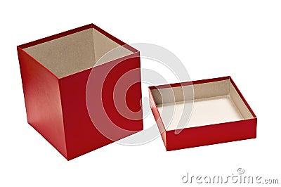 bo te cadeau vide rouge avec le couvercle illustration stock image 45100735. Black Bedroom Furniture Sets. Home Design Ideas