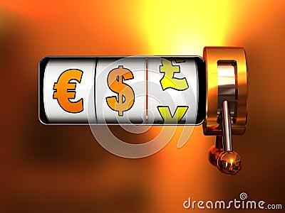 Bote del dinero en circulación