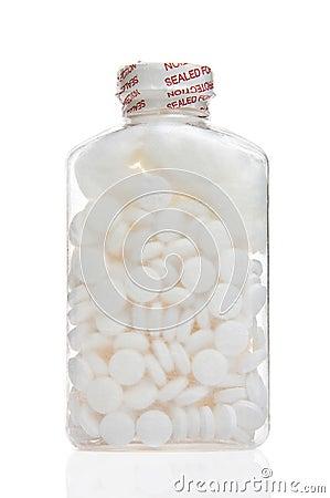 Botella de aspirina