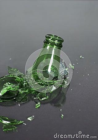 Botella quebrada - situación superior