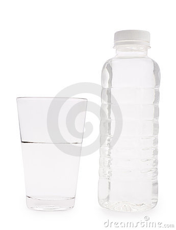 Botella transparente y vidrio pl sticos aislados fotos de archivo imagen 12636883 - Vidrio plastico transparente precio ...