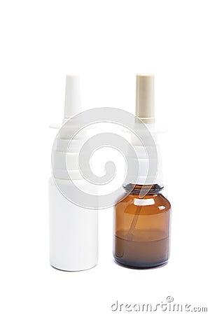 Botellas de aerosol nasal