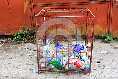 Botellas para reciclar Foto de archivo editorial