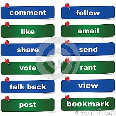 Botões sociais dos media