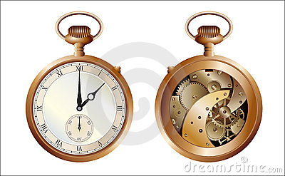 Both sides of old watch