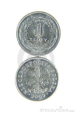 Both sides of one zloty