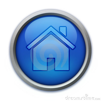 Botón casero azul
