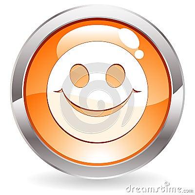 Botón del lustre con sonrisa