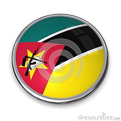 Botón Mozambique de la bandera