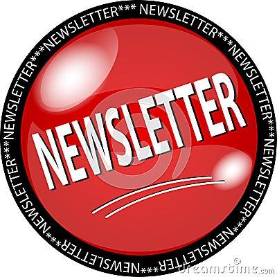 Botón rojo del boletín de noticias