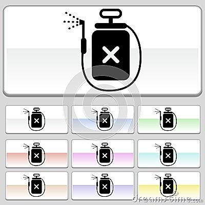 Botones cuadrados del Web - aerosol