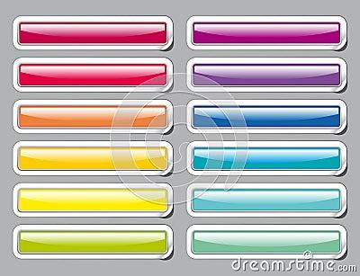 Botones del vidrio del color