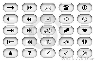Botones grises del Web
