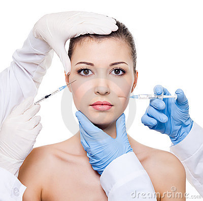 Free Botox Injection In Female Skin Stock Photography - 14259512