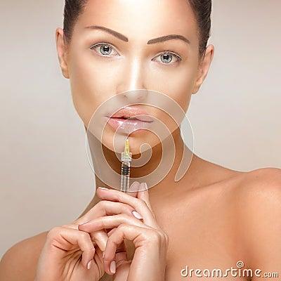 Free Botox Injections. Stock Image - 48685951