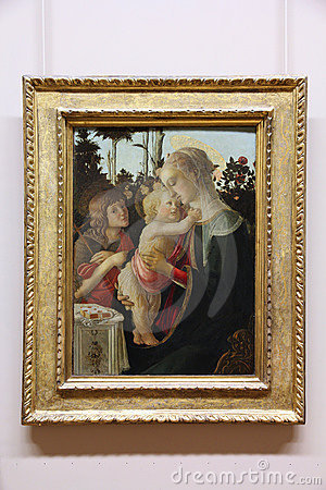 Botticelli painting in Louvre Editorial Stock Image