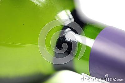 Bottiglia del primo piano del vino