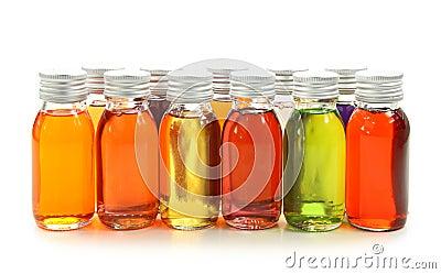 Bottiglie con gli oli essenziali