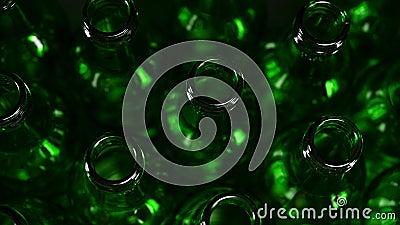 Bottiglie di birra verde archivi video