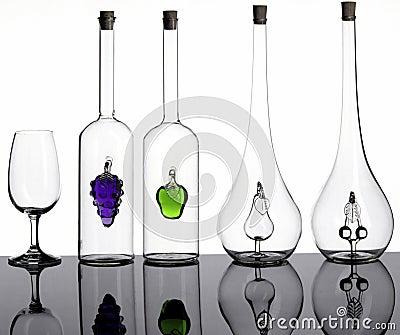 Bottiglie e vetro