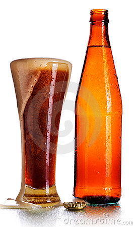 Free Bottle And Glass Of Beer Stock Photography - 20565242