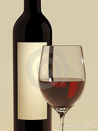 Free Bottle And Glass With Red Wine Stock Images - 11420184