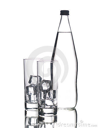 Free Bottle And Two Glasses Stock Photo - 13097310