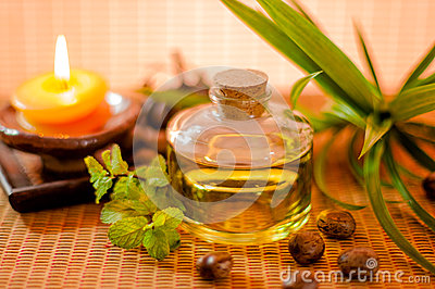 Bottle of aromatic essence oil