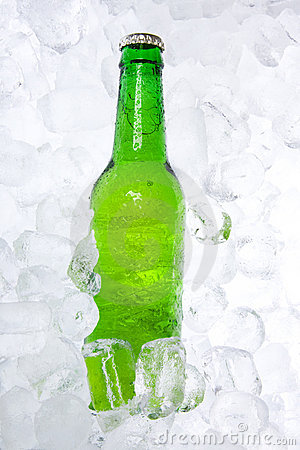Bottle of Beer on Ice