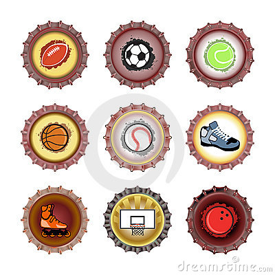 Bottle caps set-sport