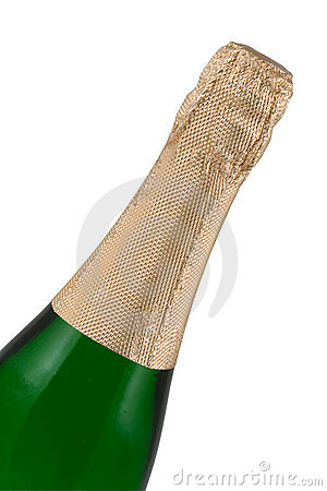 Bottle of a champagne