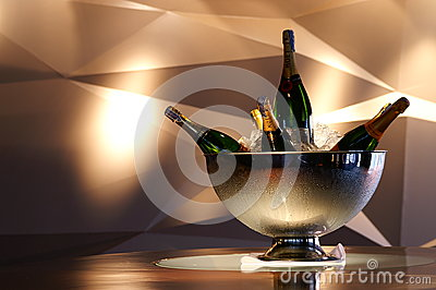 Bottle champagne Editorial Stock Image
