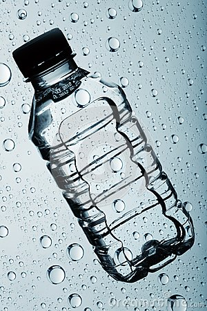 Bottle of clear purified water