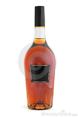 Bottle of cognac (brandy)
