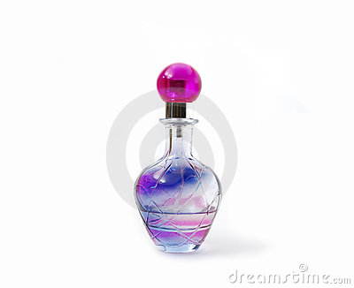 Bottle with cologne Stock Photo