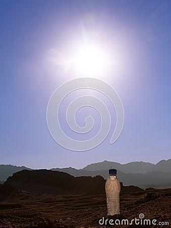 Bottle in the desert