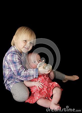 Free Bottle Feeding Baby  Royalty Free Stock Images - 18645229