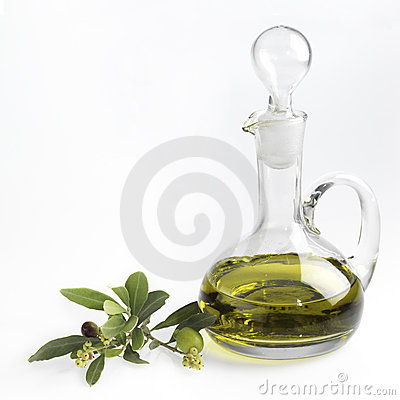 Bottle with fine olive oil